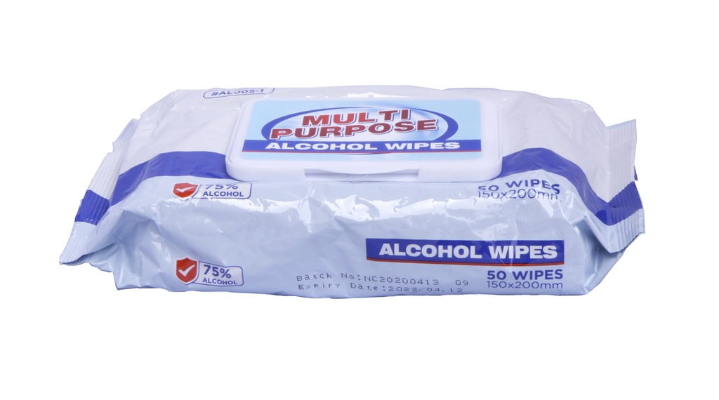 75% ALCOHOL WET WIPES (50 ct)