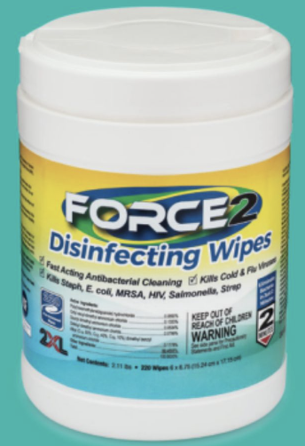 FORCE 2 DISINFECTING WIPES (220 CT)