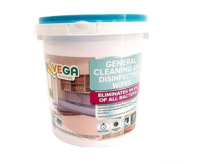 VEGA DISINFECTING WIPES 300 COUNT